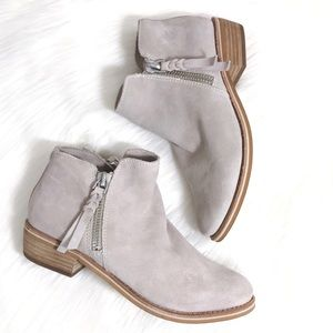 Dolce Vita Sutton Suede Ankle Booties Light Taupe